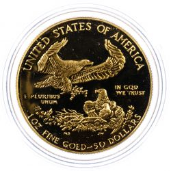 View 2: 1987-W $50 Gold Proof American Eagle