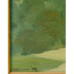 """View 3: H. Robertson Craig (English, 1916-1984) """"Study of Trees, Versailles"""" Oil on Canvas"""