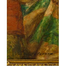 "View 3: Hippolyte Francois Leon Duluart (French, 1871-1953) ""Le Porte-Etendard"" Oil on Board"