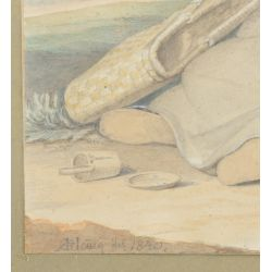 View 3: Unknown Artist (American, 19th Century) Watercolor on Paper
