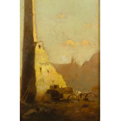 """View 3: John Francis Murphy (American, 1853-1921) """"Old Ruins"""" Oil on Canvas"""