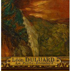 "View 4: Hippolyte Francois Leon Duluart (French, 1871-1953) ""Le Porte-Etendard"" Oil on Board"