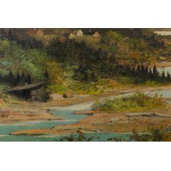View 3: Adhemar Richard (Swiss, b.1858) Oil on Canvas