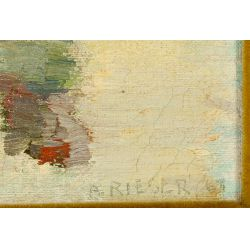 View 4: A. Rieser (American, 20th Century) Oil on Canvas