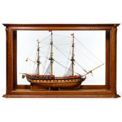 View 4: Wooden Ship Model in Display Case