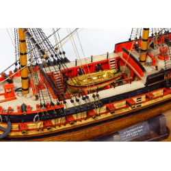 View 3: Wooden Ship Model in Display Case