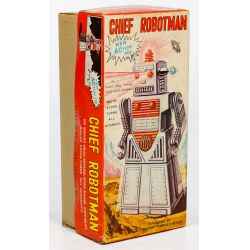 """View 8: KO Japanese """"Chief Robotman"""" Battery Operated Toy"""