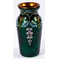 View 3: French Enamel Portrait Vase