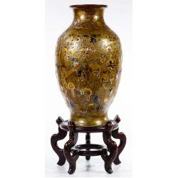 View 2: Japanese Satsuma Vase and Display Stand