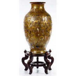 View 3: Japanese Satsuma Vase and Display Stand