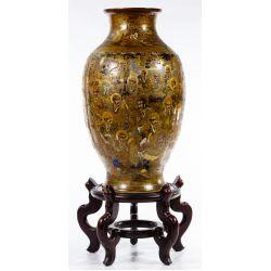 View 4: Japanese Satsuma Vase and Display Stand