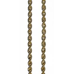 View 2: 14k Gold Twisted Rope Necklace