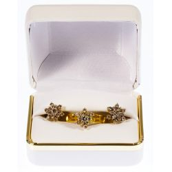 View 3: 14k Gold and Diamond Ring and Earring Set