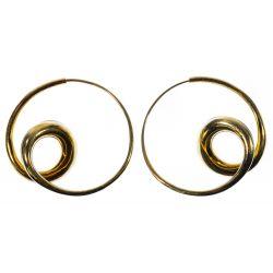 View 2: Michael Good 18k Gold Pierced Earrings