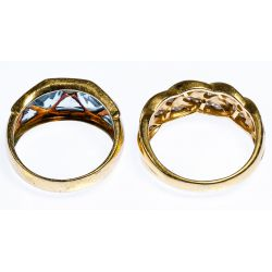 View 2: 14k Gold and Gemstone Rings