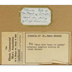 "View 6: Luigi Kasimir (American / Austrian, 1881-1962) ""Tower London"" Etching"