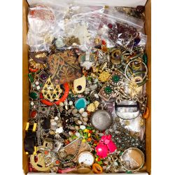View 2: Costume Jewelry and Pocket Watch Assortment