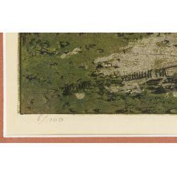 "View 4: Luigi Kasimir (American / Austrian, 1881-1962) ""Tower London"" Etching"