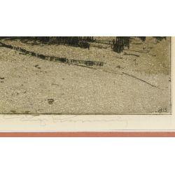 "View 3: Luigi Kasimir (American / Austrian, 1881-1962) ""Tower London"" Etching"
