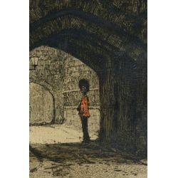 "View 2: Luigi Kasimir (American / Austrian, 1881-1962) ""Tower London"" Etching"