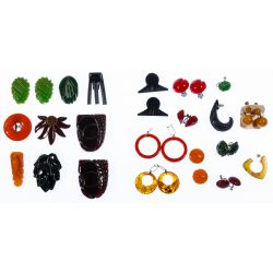 View 2: Bakelite / Catalin Earring and Clip Assortment
