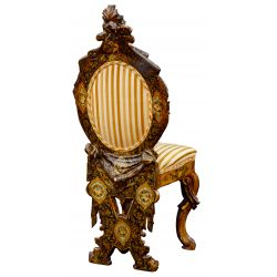 View 2: Carved and Polychromed Wood Chair