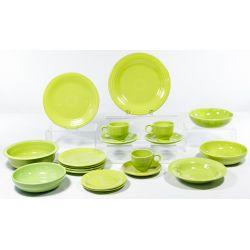 "View 3: Homer Laughlin Fiestaware ""Forest Green"" and ""Chartreuse"" Assortment"
