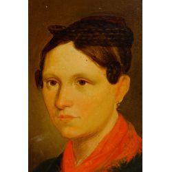 "View 2: (Attributed to) Josef von Fuhrich (European, 1800-1876) ""Portrait of a Bride"" Oil on Board"