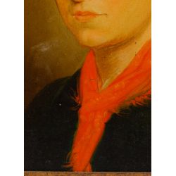 "View 3: (Attributed to) Josef von Fuhrich (European, 1800-1876) ""Portrait of a Bride"" Oil on Board"
