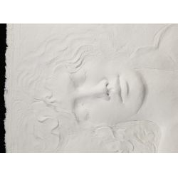 """View 4: Frank Gallo (American, b.1933) """"Reclining Female Nude"""" Cast Paper"""