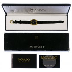 "View 2: Movado ""Museum"" Wrist Watch"