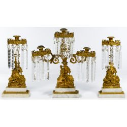 View 2: Brass Girandola Candleabra Sets