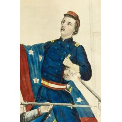 "View 2: Currier & Ives ""Death of Col. Ellsworth"" Print"