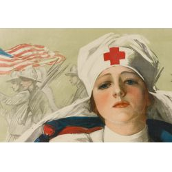 "View 2: World War I Red Cross ""Christmas Roll Call"" Poster"