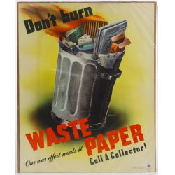"View 3: World War II US ""Recycle / Reduce"" War Posters"