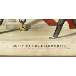 "View 3: Currier & Ives ""Death of Col. Ellsworth"" Print"