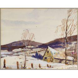 View 2: John Cowan Templeton (American, 1880-1958) Watercolor on Paper
