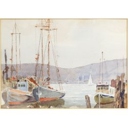View 2: (Attributed to) John Cowan Templeton (American, 1880-1958) Watercolor on Paper