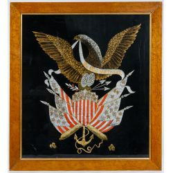 View 3: Patriotic Eagle Silk Embroidery Displays