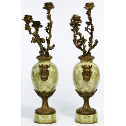View 2: Sevres Style Candelabras