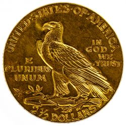 View 2: 1928 $2 1/2 Gold Indian