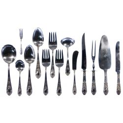 "View 10: International ""Fontaine"" Sterling Silver Flatware Service"
