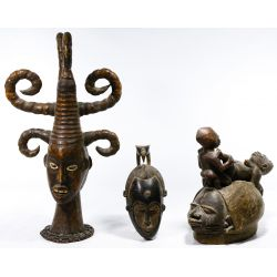 View 2: African Tribal Mask Assortment