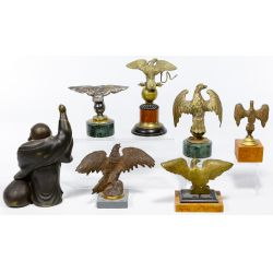 View 2: Buddha and Eagle Cast Metal Statue Assortment