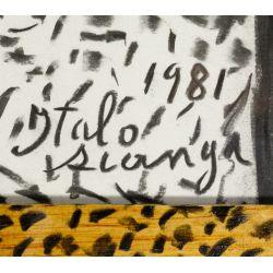 View 3: Italo Scanga (American / Italian, 1932-2001) Charcoal on Paper