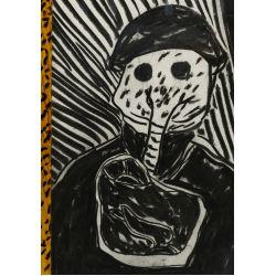 View 2: Italo Scanga (American / Italian, 1932-2001) Charcoal on Paper