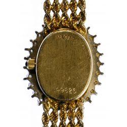 View 3: Geneve 14k Gold and Diamond Wrist Watch