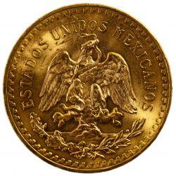 View 2: Mexico: 1947 50 Peso Gold