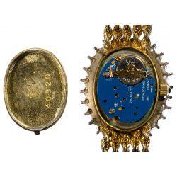 View 4: Geneve 14k Gold and Diamond Wrist Watch