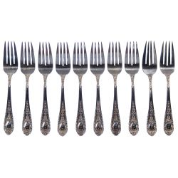 "View 4: International ""Fontaine"" Sterling Silver Flatware Service"